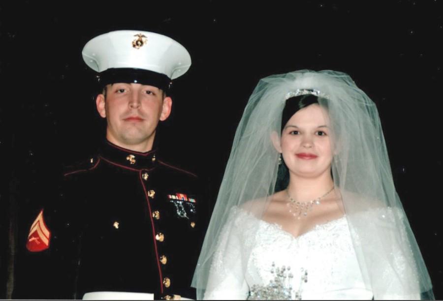 Justin Miller at wedding of Alissa Harrington
