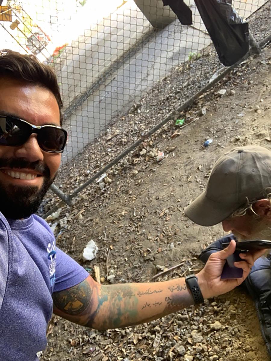 Reaching homeless veteran in Miami